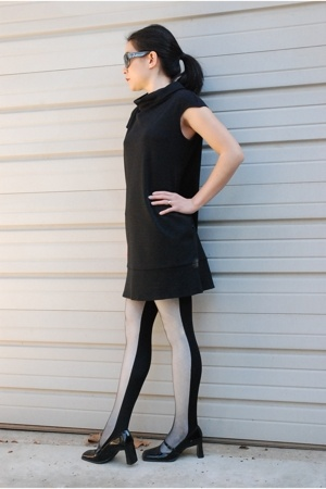 Express dress - Urban Outfitters tights - Sandler shoes