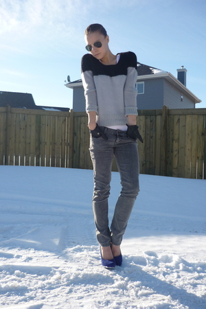 forever 21 jeans - H&amp;M sweater