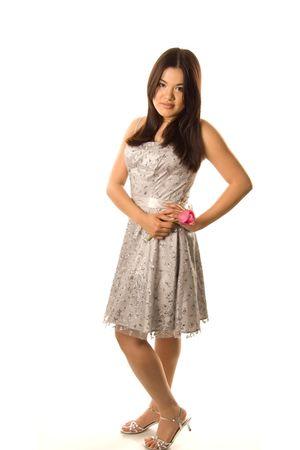 silver deb dress
