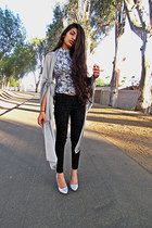 silver victorian Halter Turtle Neck top - black Victorian Jeans pants