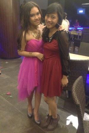 bubble gum glamour dress free people dress - brick red simple dress dress