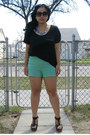 Aquamarine-zara-shorts-black-h-m-top-turquoise-blue-j-crew-necklace