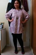 Kamiseta dress - Divi necklace - Vero Moda leggings - payless shoes