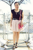 black Forever 21 top - salmon Matt & Nat purse - dark gray Deena & Ozzy belt