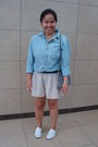 Blue-gap-shirt-beige-urban-behaviour-shorts-white-keds-shoes-blue-thriftaw