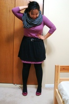 aa scarf - Old Navy dress - skirt - Suzy Shier belt - Ardene tights - payless sh