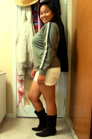 SM Kultura jacket - Old Navy shorts - le chateau boots