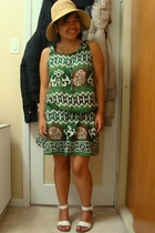 Walmart hat - Divi dress - Janylin shoes
