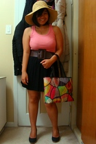Walmart hat - Greenhills top - Sirens belt - skirt - Celine shoes - baguio purse