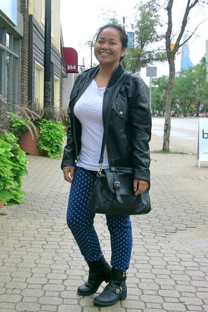 black sam edelman boots - blue Old Navy jeans - black Urban jacket