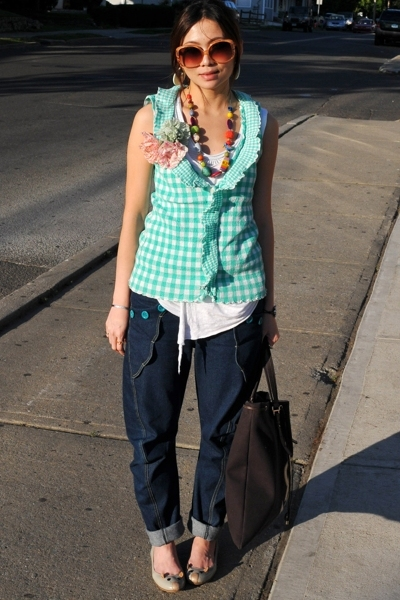 TC top - Zara top - jeans - Marc by Marc Jacobs shoes - YSL accessories - neckla