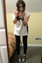 Stella McCartney top - leggings - Scaroh shoes - H&M bracelet - calvin klein t-s