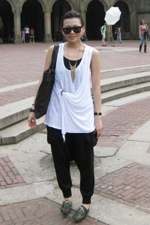 Zara top - pants - shoes - YSL accessories - Forever21 necklace - H&amp;M sunglasses