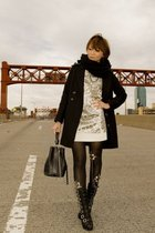 coat - dress - tights - shoes - accessories - scarf