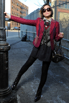 brown 31 phillip lim vest - brown Givenchy shoes - red blazer