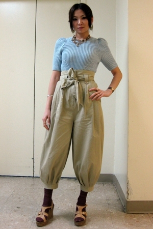 H&M top - H&M pants - Kenneth Cole shoes - Missoni tights