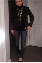 Zara jacket - jeans - forever 21 necklace - Sigerson Morrison shoes