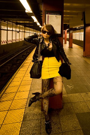 jacket - top - skirt - tights - shoes - accessories