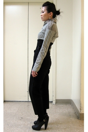 Diesel top - CdG pants - Nine West shoes