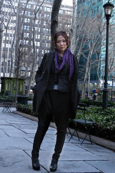 Zara scarf - H&M coat - Pepe Jeans jacket - Zara pants - shoes