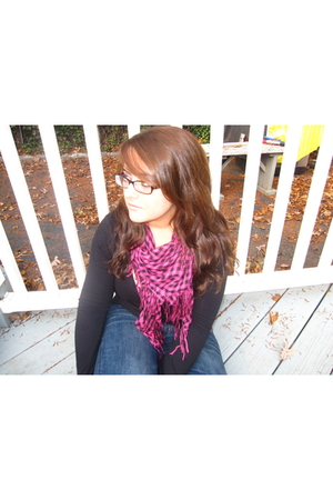 Forever 21 scarf - coach glasses