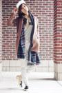 Striped-jeans-madewell-jeans-baseball-hat-madewell-hat-plaid-zara-scarf