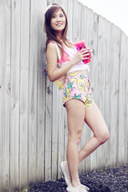 Lazy Oaf shorts - victorias secret pink accessories - victorias secret pink top