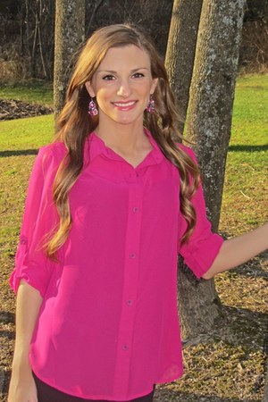 hot pink Macys blouse