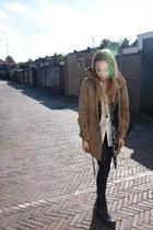 Zaraa coat - skull scarf Zara scarf