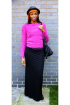 fluffy H&M jumper - maxi skirt Boohoo skirt