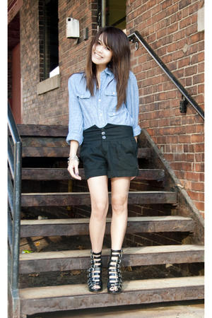 urban outfitter shirt - Opening Ceremony boots - local brand shorts