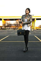 jacket - Chanel purse - vintage boots