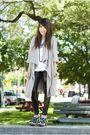 Gray-alexander-wang-cardigan-blue-miu-miu-shoes-black-forever-21-leggings
