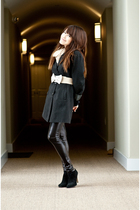 black random from Bangkok coat - beige random from Bangkok belt - black Forever