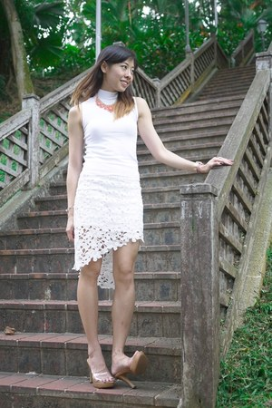 white lace Choies skirt