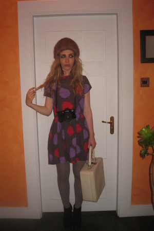 Topshop dress - vintage hat - Urban Outfitters tights - Topshop boots - vintage 