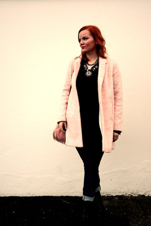cut out Topshop boots - pastel pink Topshop coat