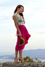 Hot-pink-asoscom-skirt-cream-mango-top