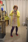 Dress-purple-target-tights-red-cotton-on-shoes-yellow-cotton-on-cardigan-