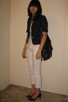 g2000 blazer - - Topshop t-shirt - jeans - Charles & Keith shoes - diva necklace