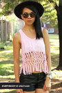 light pink macrame top