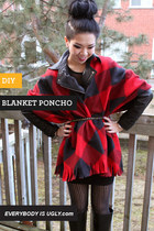 DIY blanket poncho 