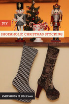 DIY: SHOEAHOLIC CHRISTMAS STOCKING