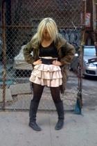 conway skirt - sosume top - Zara jacket - tights - Dolce Vita boots