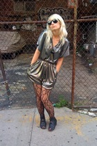 Vintage romper shorts - tights - Dolce Vita Reno shoes