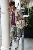 Topshop leggings - Alexander Wang boots - Guess blazer - Topshop bag