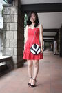 Red-h-m-dress-black-paul-herrera-purse-black-betsey-johnson-shoes-white-vi