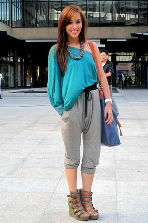 jogging Topshop pants - olive green privileged Fivebyfive shoes