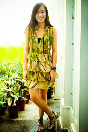 green Tomato dress - brown tonic shoes