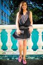 Black-tango-dress-black-glitterati-belt-black-zara-purse-pink-ichigo-shoes
